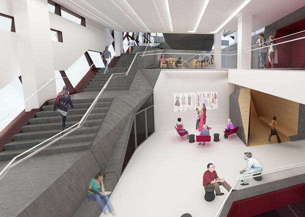 Architect's Rendering of the 4th Floor Lounge. Photo courtesy of Skidmore, Owings & Merrill LLP (SOM).