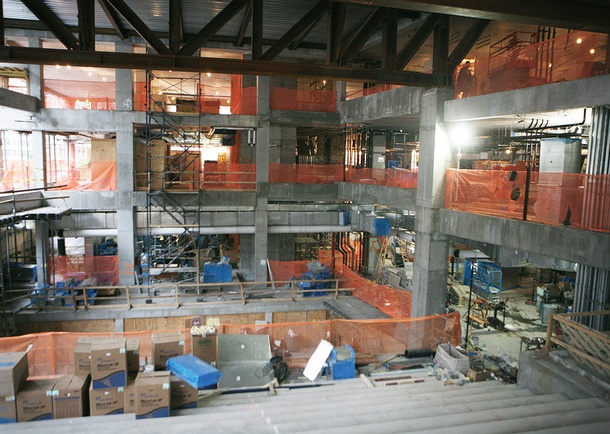Construction view of Multi-Story Auditorium. Photo courtesy of Tishman Construction Corporation.