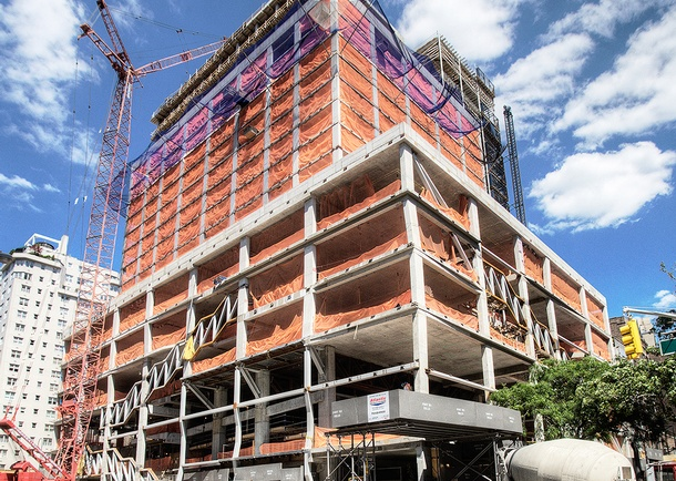 Completed superstructure view from 13th Street and 5th Avenue. Photo courtesy of Tishman Construction Corporation.