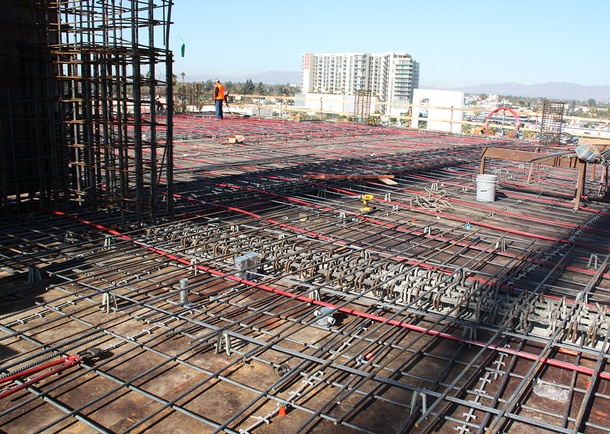 View of long, column-free spans. Photo courtesy of Bomel Construction