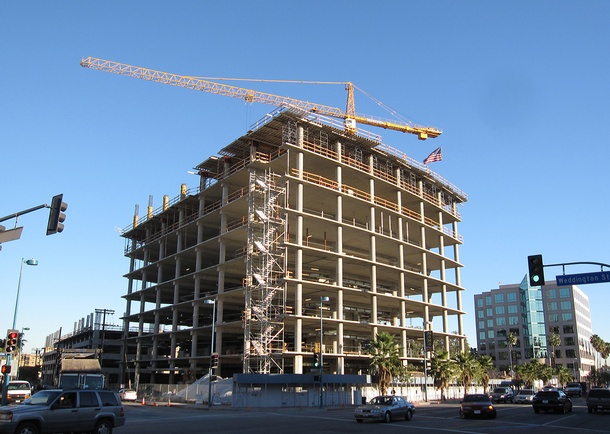 Structural frame nears topping out. Photo courtesy of J.H. Snyder Company (JHS)