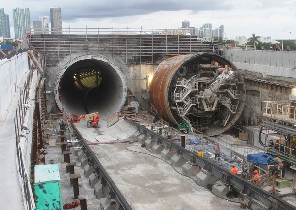 Dodge Island Tunnel Entrance and Exit. Photo courtesy of Bouygues Civil Works Florida