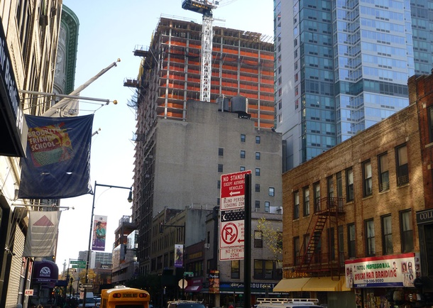 Avalon Willoughby Square construction in progress. Photo courtesy of DeSimone Consulting Engineers, New York, NY