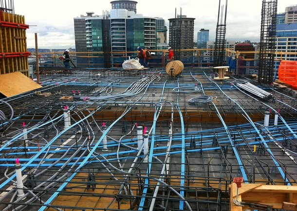 Viktoria reinforcement construction. Photo courtesy of Cary Kopczynski & Company, Bellevue, WA