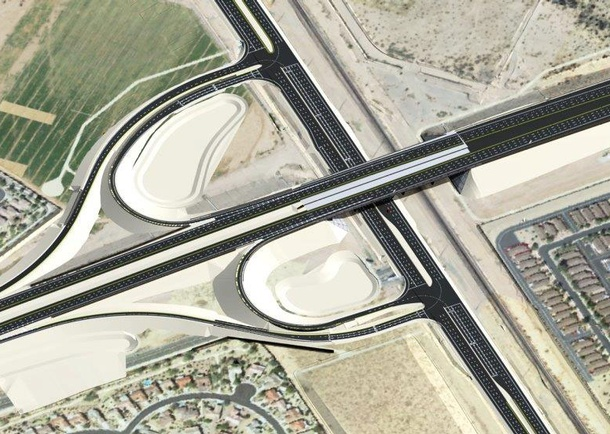 Rendering of completed traffic interchange. Photo courtesy of Stanley Consultants Inc Phoenix, AZ