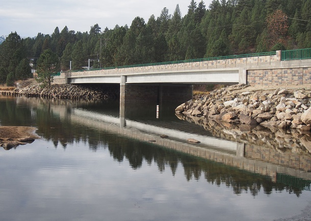 View of the new SH-55 bridge over the North Fork Payette River. Photo courtesy of the Idaho Transportation Department, Boise, ID
