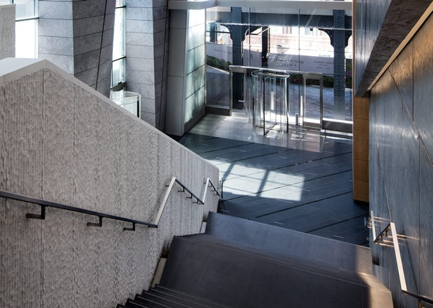 Interior view of stairs. Photo courtesy of hudsonyardsoffices.com