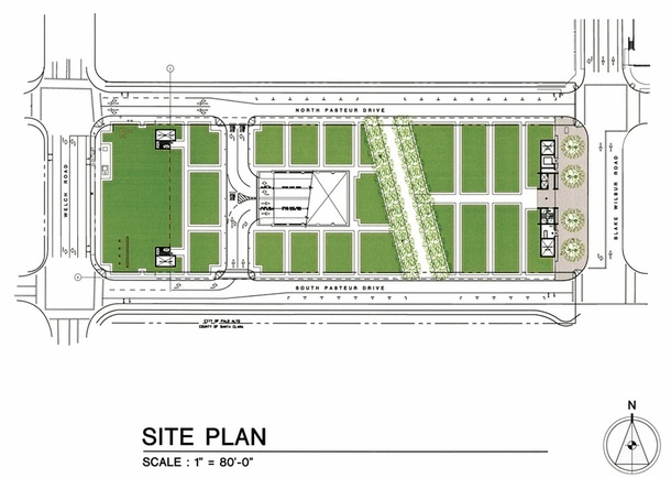 Site Plan. Illustration: Watry Design, Inc.