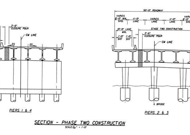 Cedar Mountain Bridge Construction Diagram, Phase II