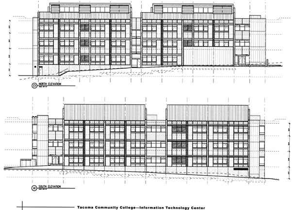North and South Elevations, diagrams: Callison Architecture.