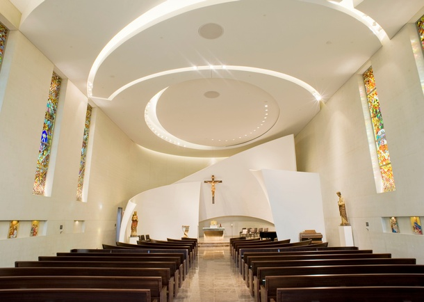 Ciew of completed chapel. Photo courtesy of Jason Ness Photography